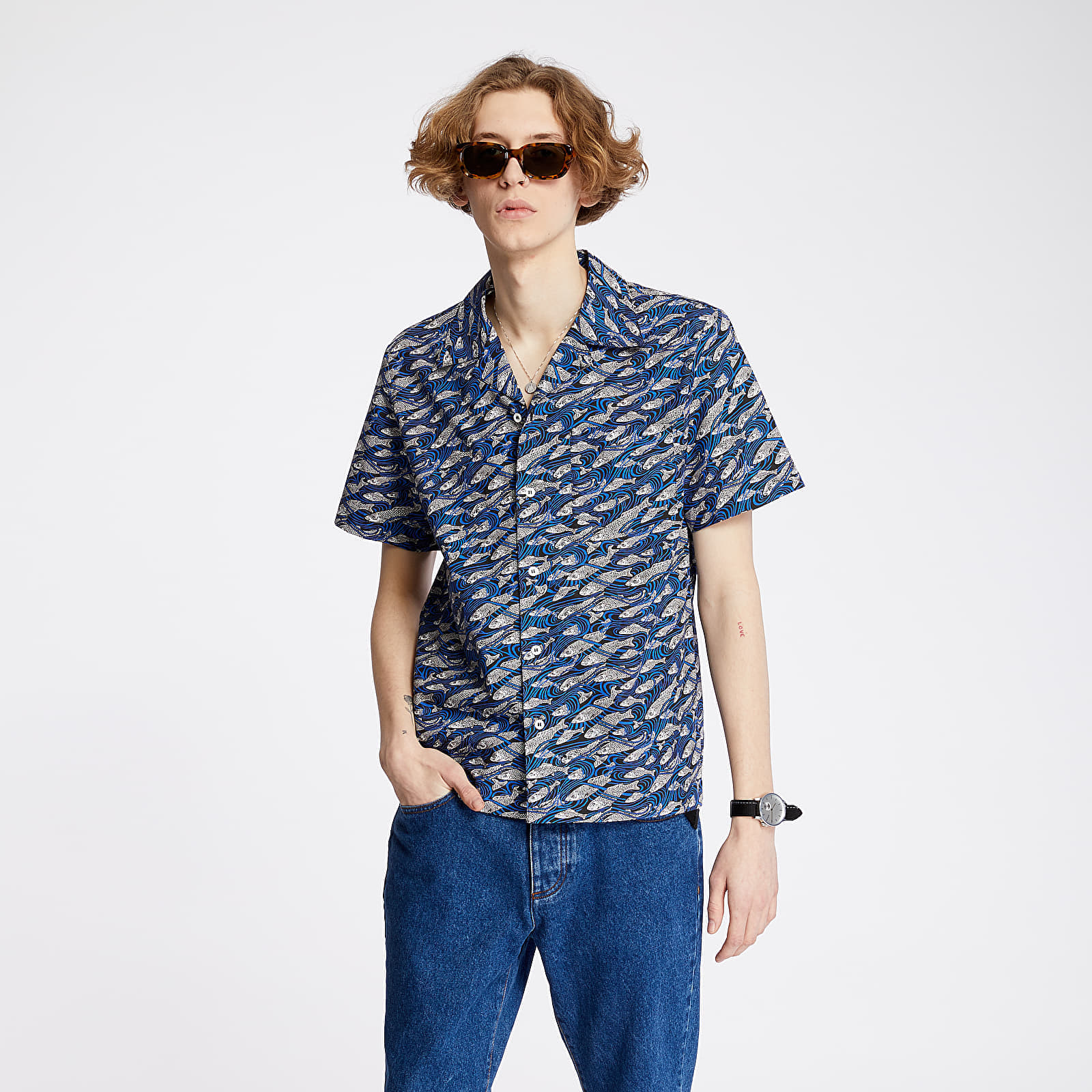 Shirts A.P.C. Chemisette David Shirt Blue