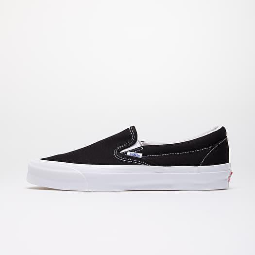 classic slip on vans black and white