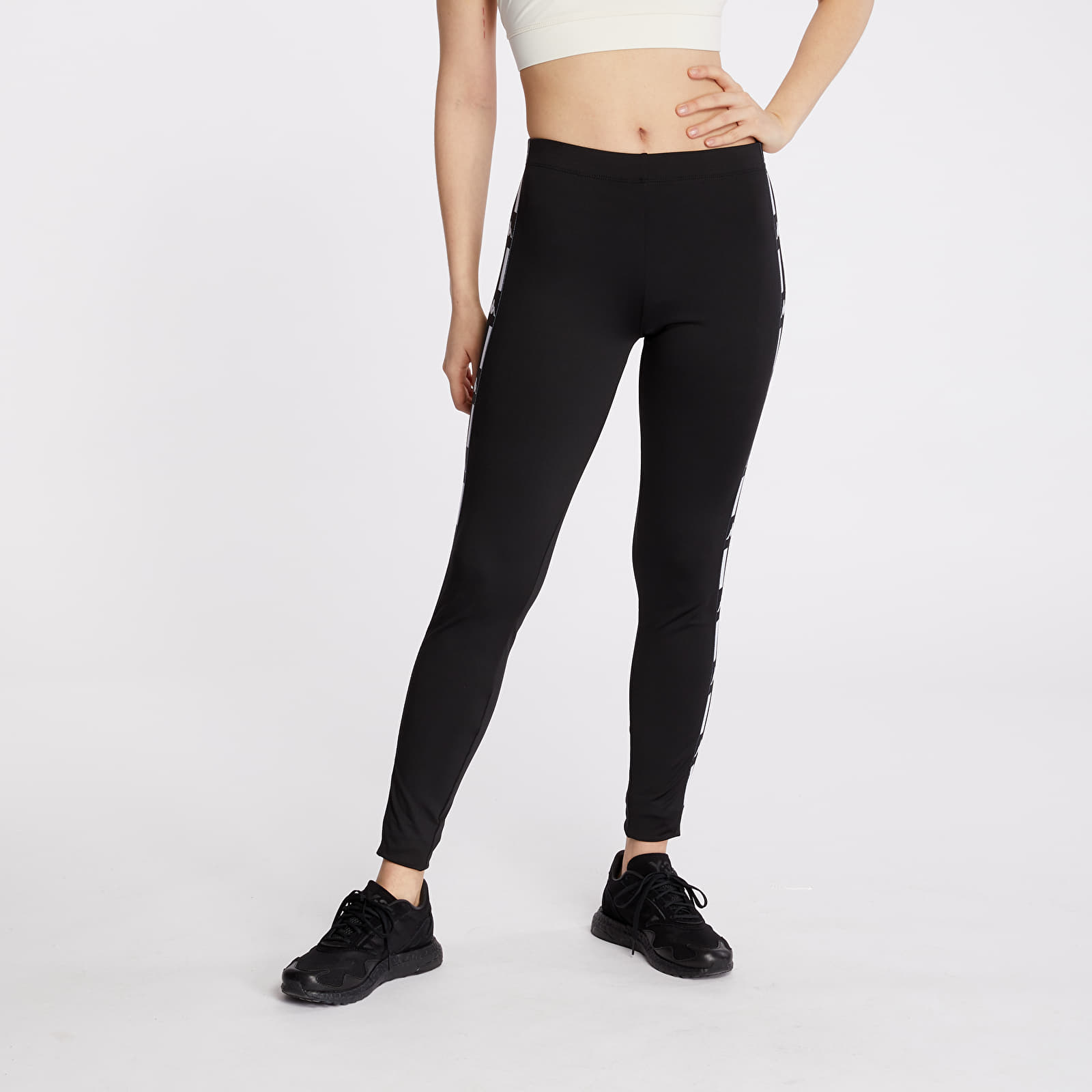 Džíny a kalhoty Kappa Authentic La Baward Leggings Black