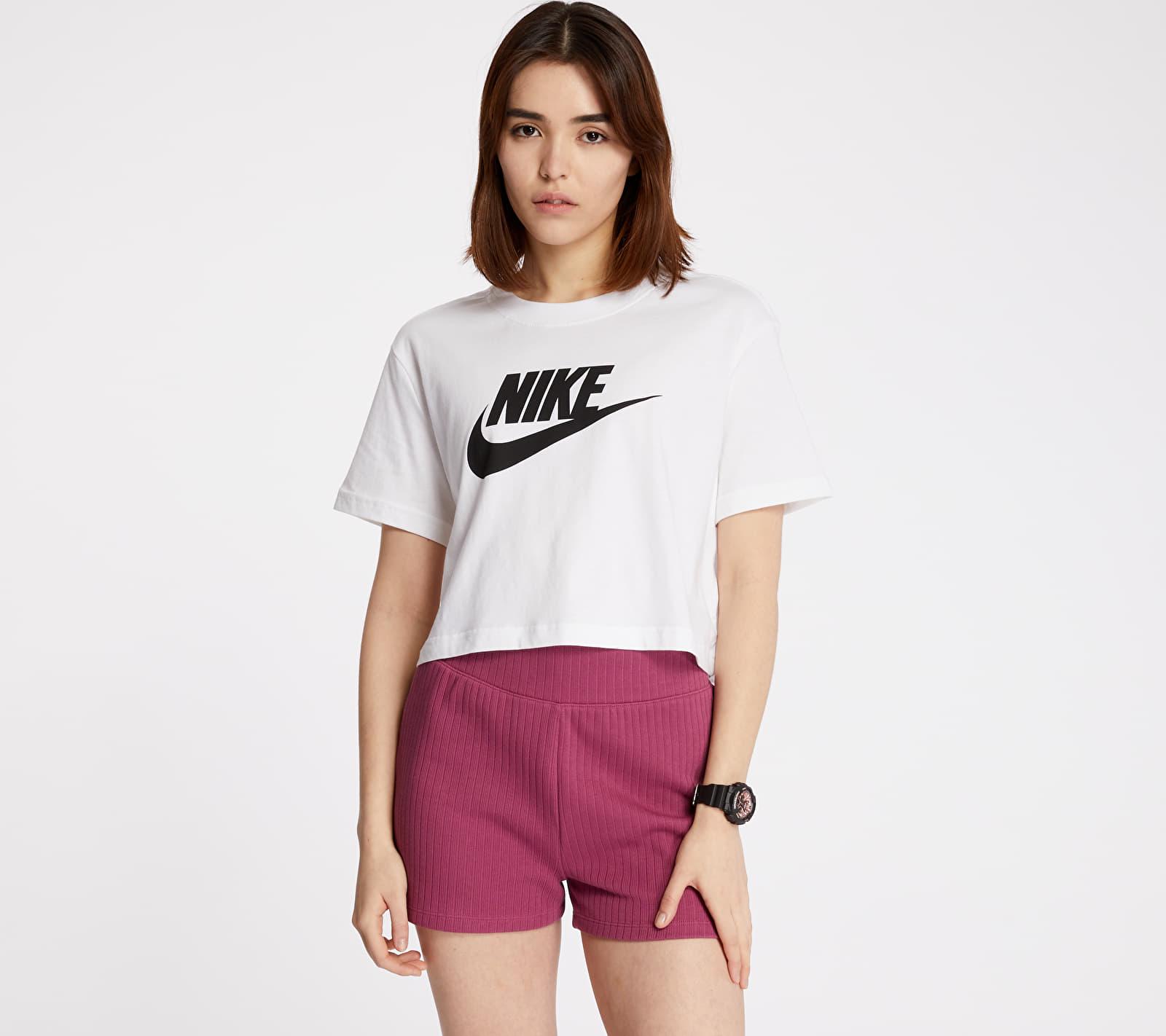 Nike Sportswear Essential Cropped Icon Future Tee White/ Black S