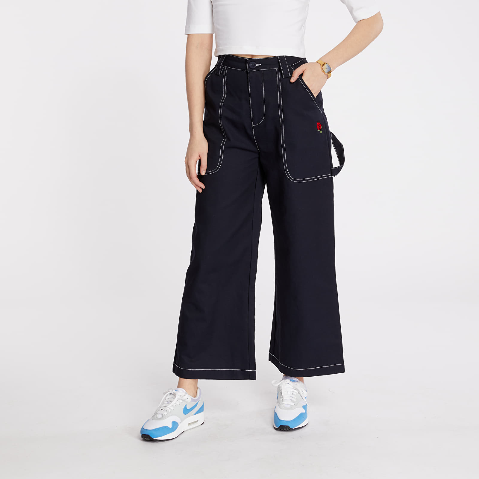 Pants and jeans Lazy Oaf Picking Roses Work Pants Navy