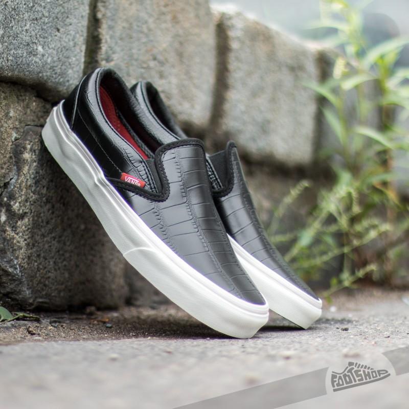 f7748e3c2f7 Vans Slip-On Croc Leather Black