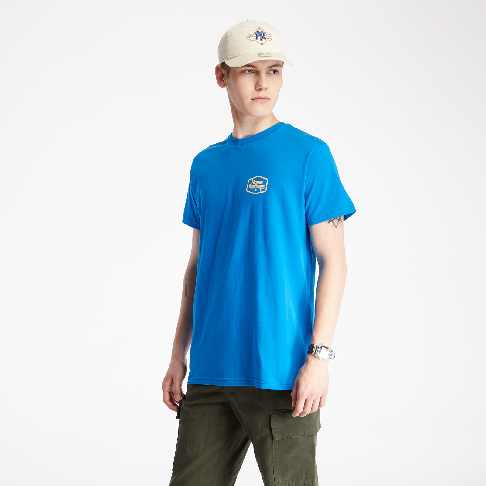 Tricouri Horsefeathers Fab Tee Imperial Blue