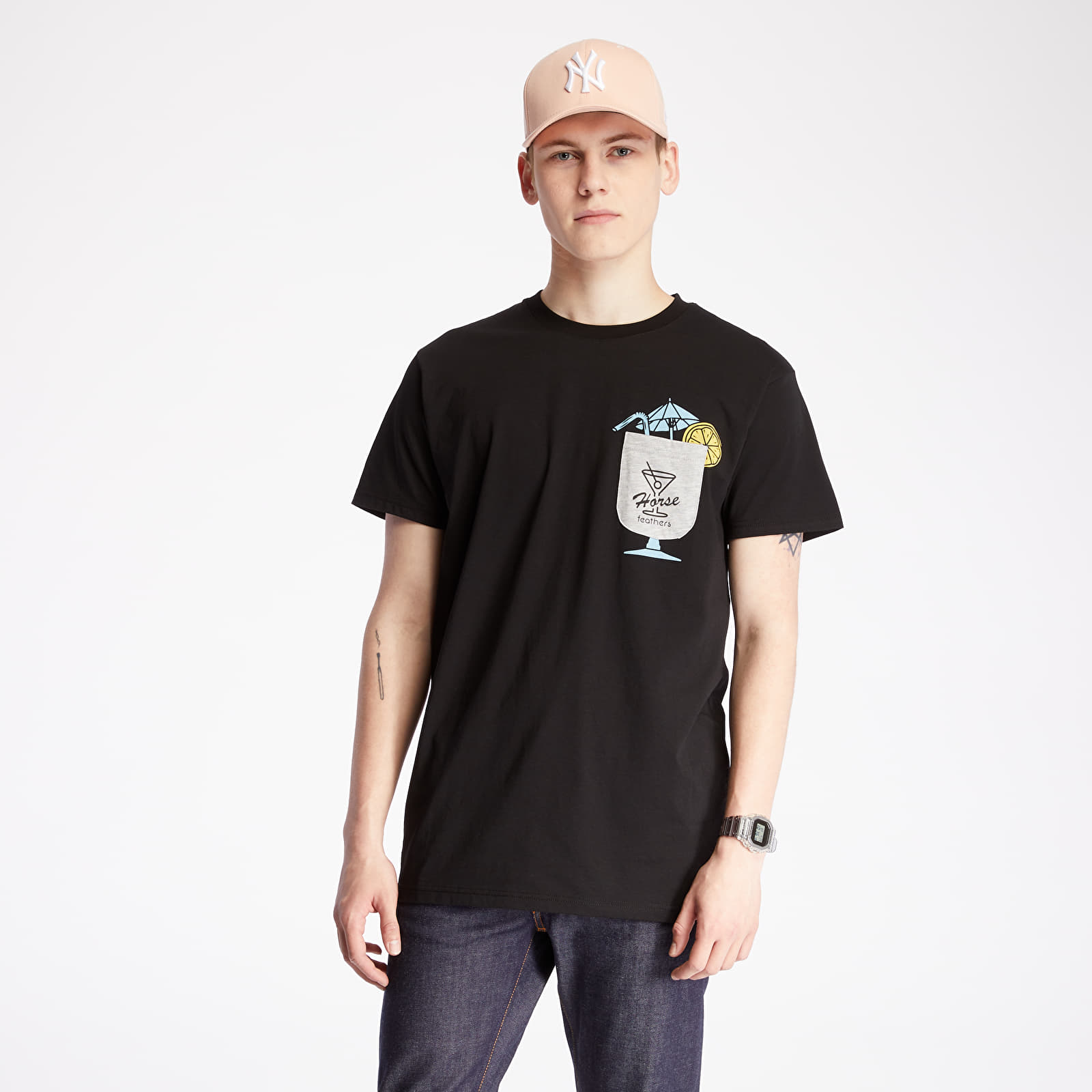 T-shirts Horsefeathers Cocktail Tee Black