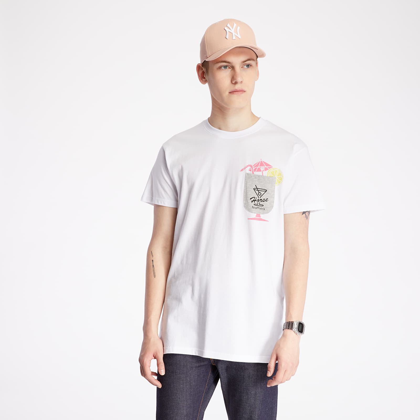 T-shirts Horsefeathers Cocktail Tee White