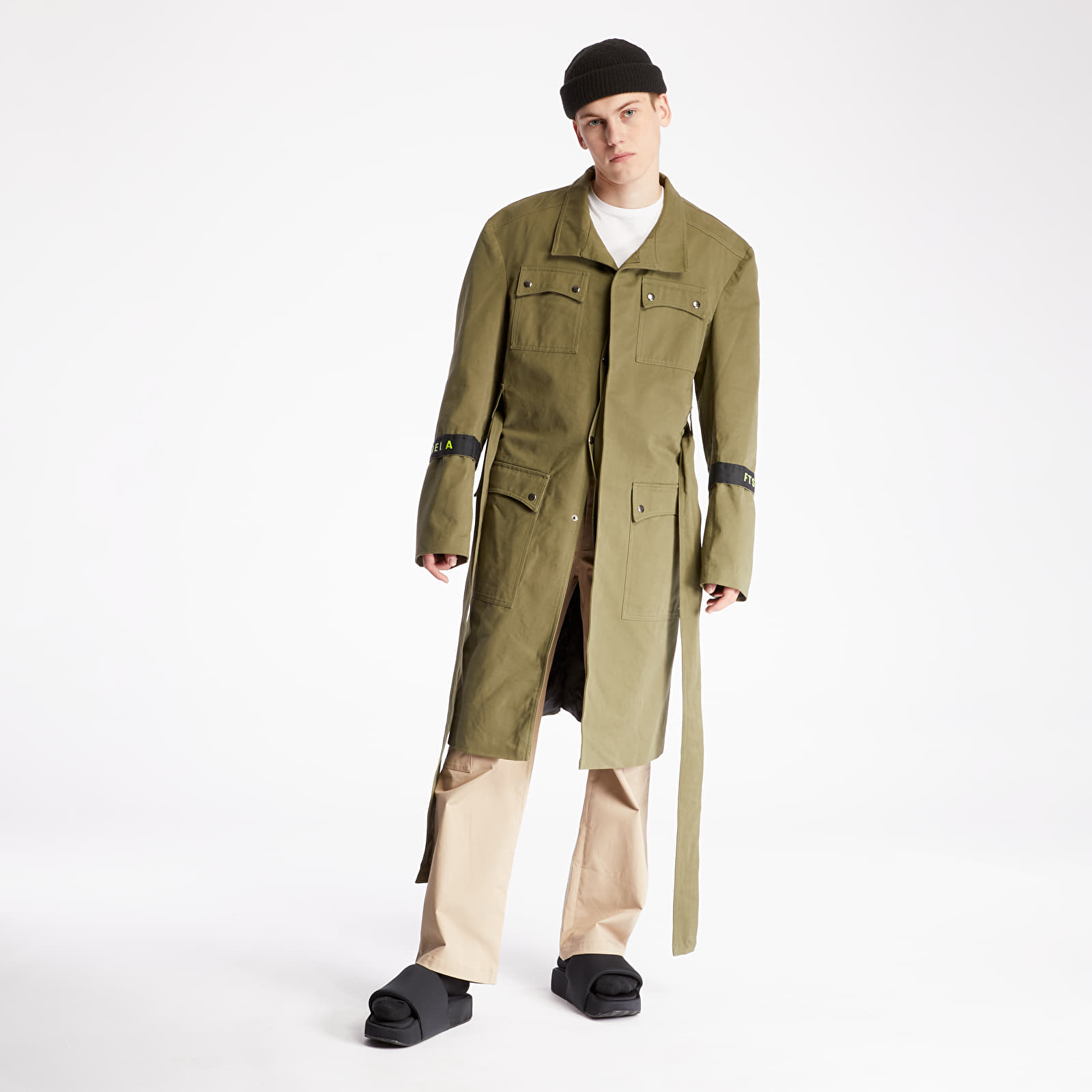 "Jackets and Coats FTSHP + LAFORMELA ""No Season"" Twill Long Coat Green"