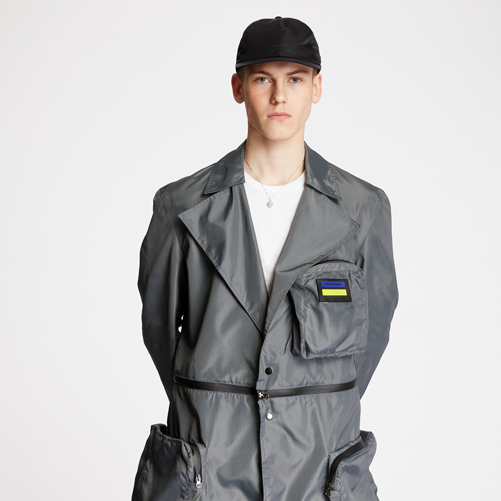 "Jacken und Mäntel FTSHP + LAFORMELA ""No Season"" Zip Pockets Long Coat Grey"