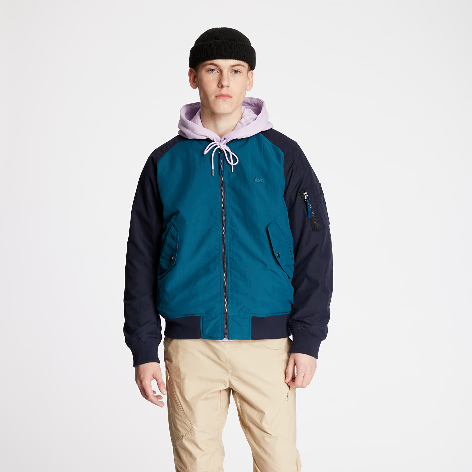 LACOSTE Bicolor Reversible Lightweight Bomber