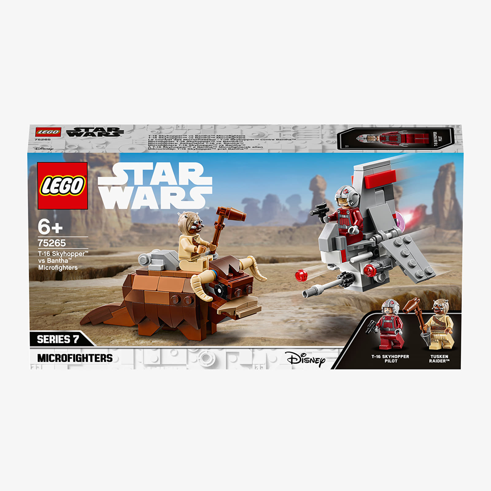 Kits de LEGO LEGO Star Wars T-16 Skyhopper vs Bantha Microfighter