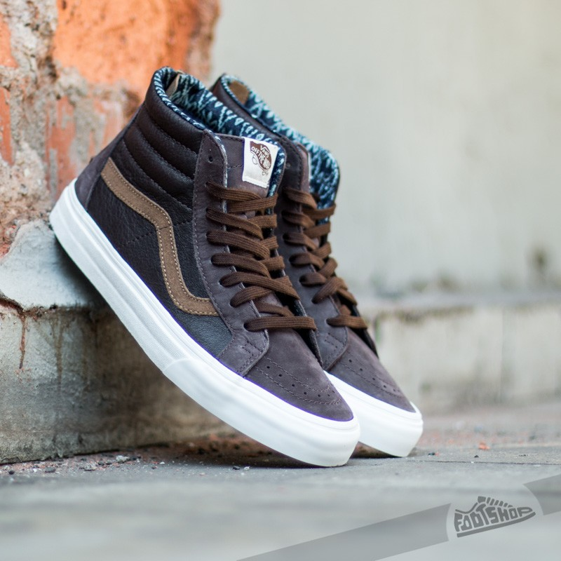002e1d2157a9ea Vans Sk8-Hi Zip California Leather  Nubuck Coffe Bean