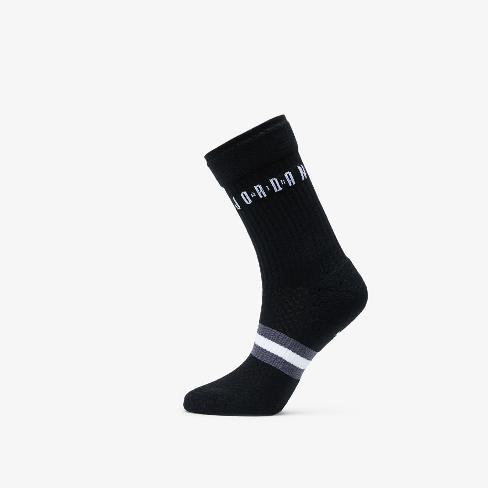 Socken Jordan Legacy 2 Pair Crew Socks Black/ White/ White