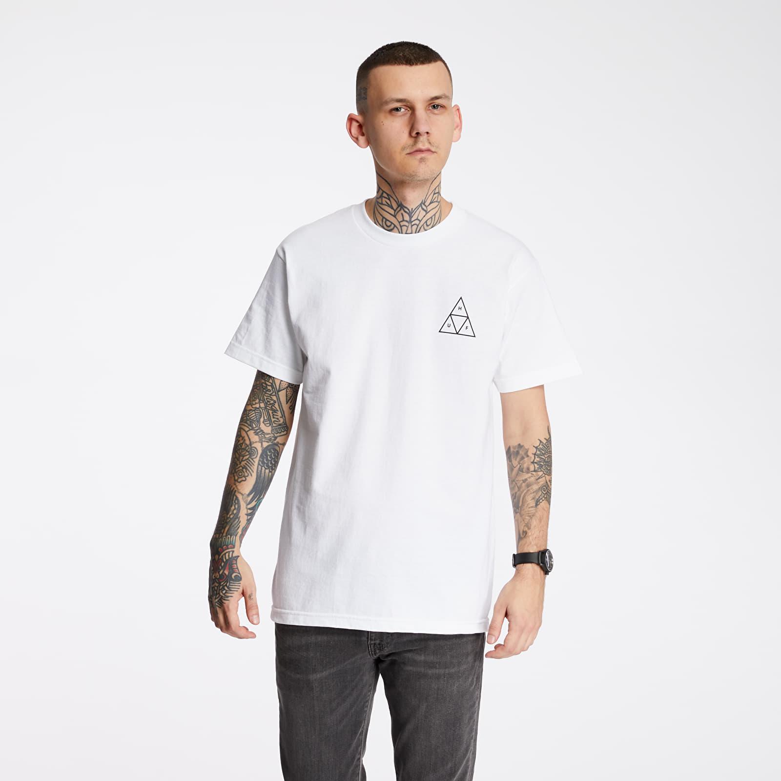 Tricouri HUF Essentials Triple Triangle Tee White