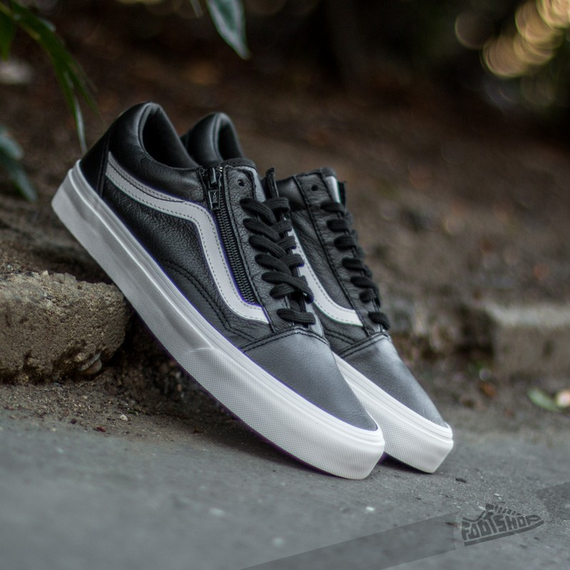 Vans Old Skool Zip Premium Leather Black  e06d3fb64