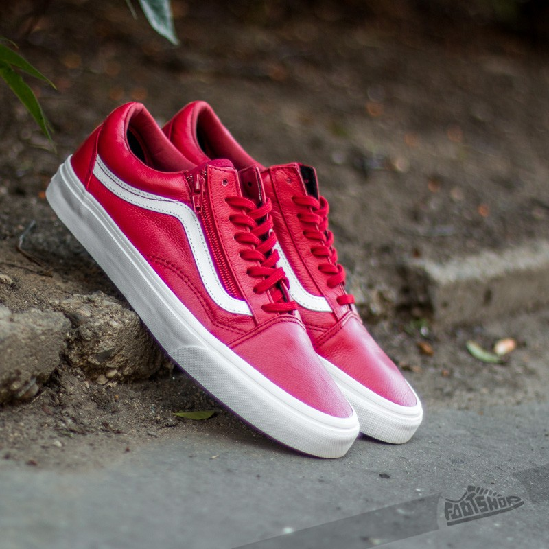 Vans Old Skool Zip Premium Leather Chili Pepper | Footshop