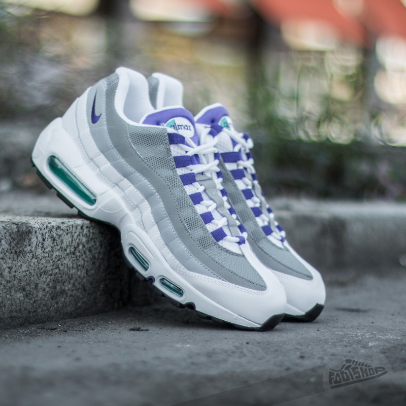 9920b7bbab Nike Air Max 95 OG White/Court Purple-Emerald Green-Wolf Grey ...