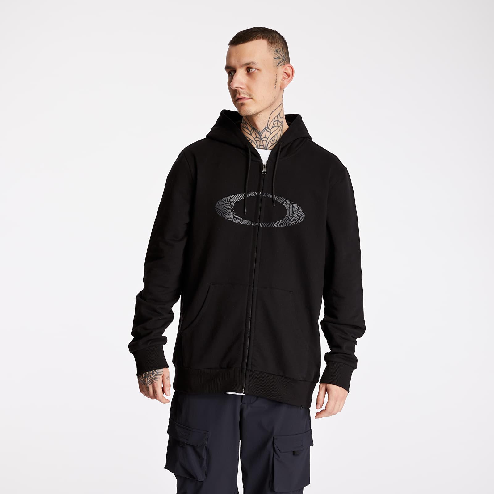Sweatshirts Oakley Camo Lines Ellipse Full Zip Hoodie Black