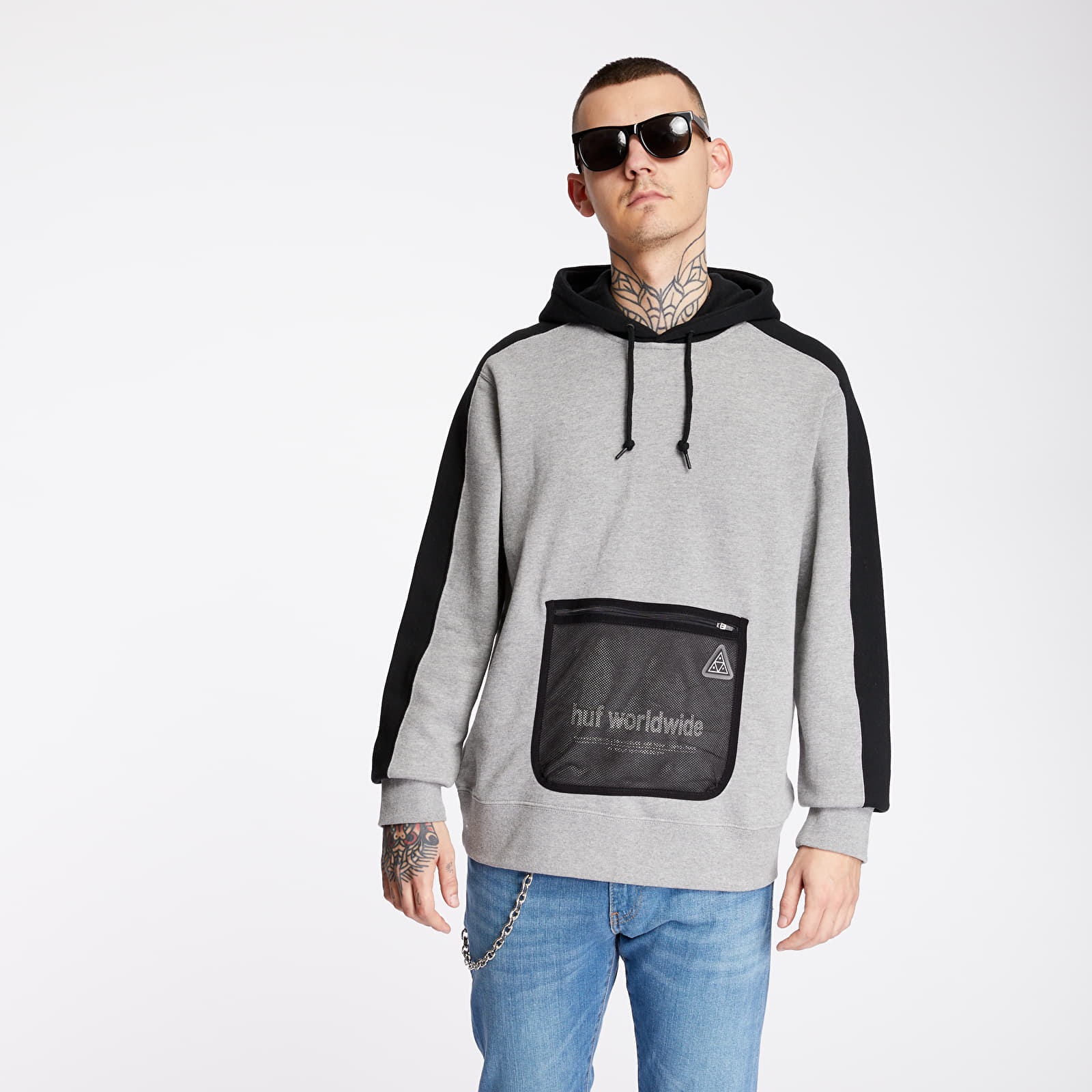 Hanorace și bluze HUF Expo Hoodie Grey Heather