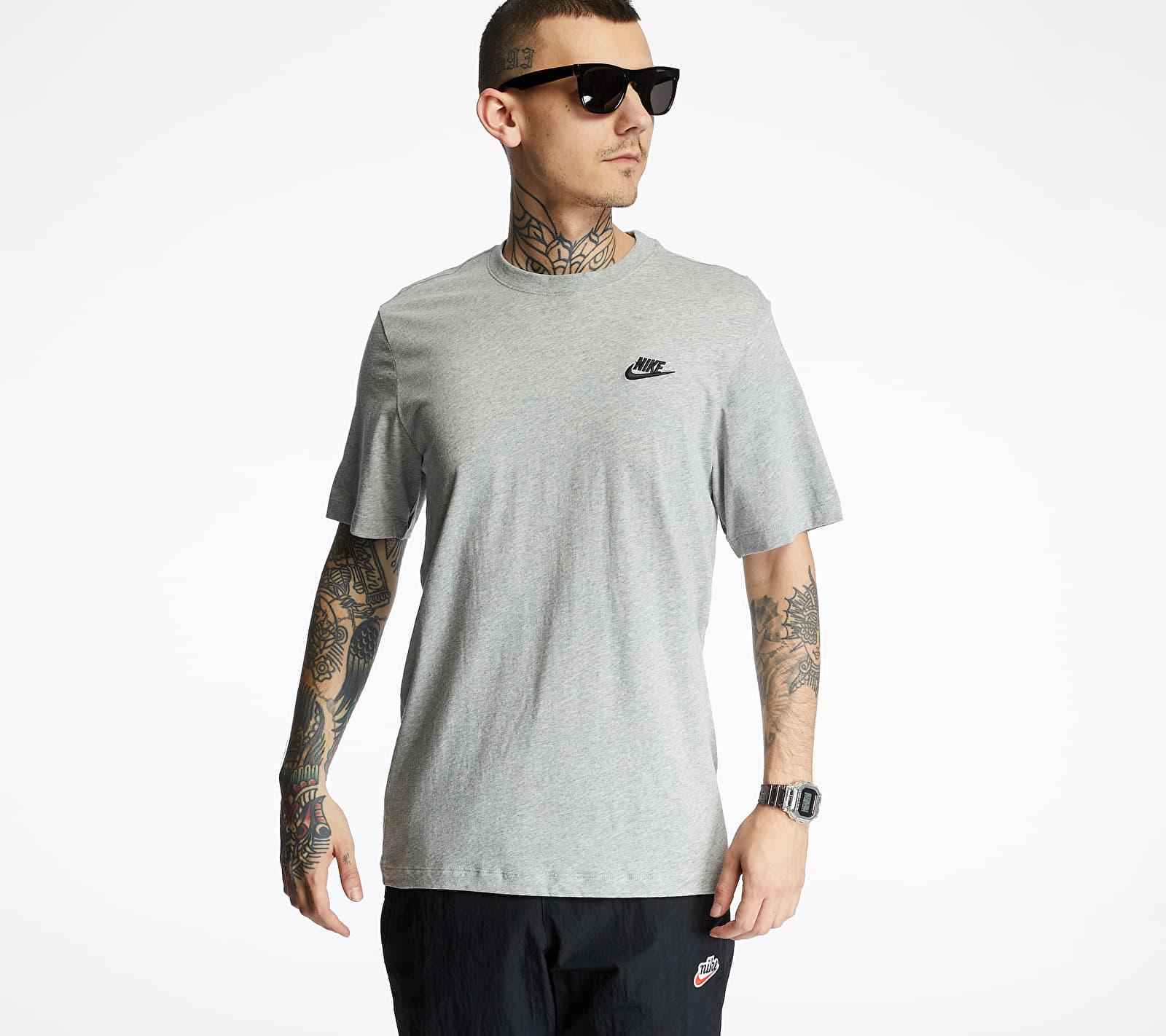 Nike Sportswear Club Tee Dk Grey Heather/ Black S