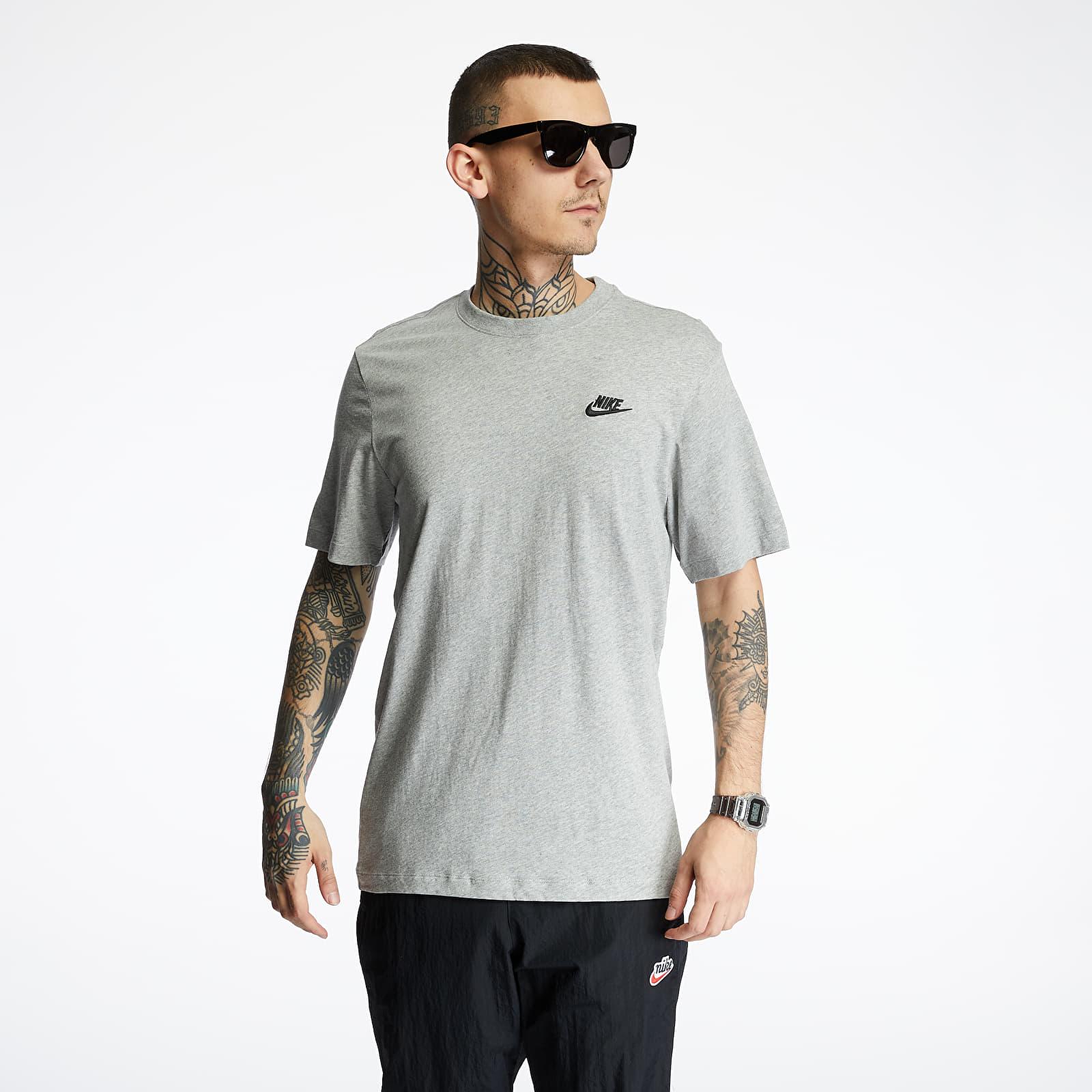 Tričká Nike Sportswear Club Tee Dk Grey Heather/ Black