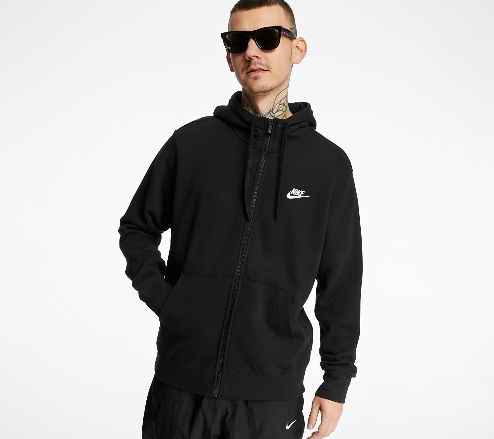 Nike Sportswear Club Hoodie Black/ Black/ White XL