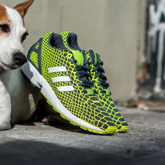 adidas Zx Flux Techfit Solar Yellow Ftw White Onix | Footshop