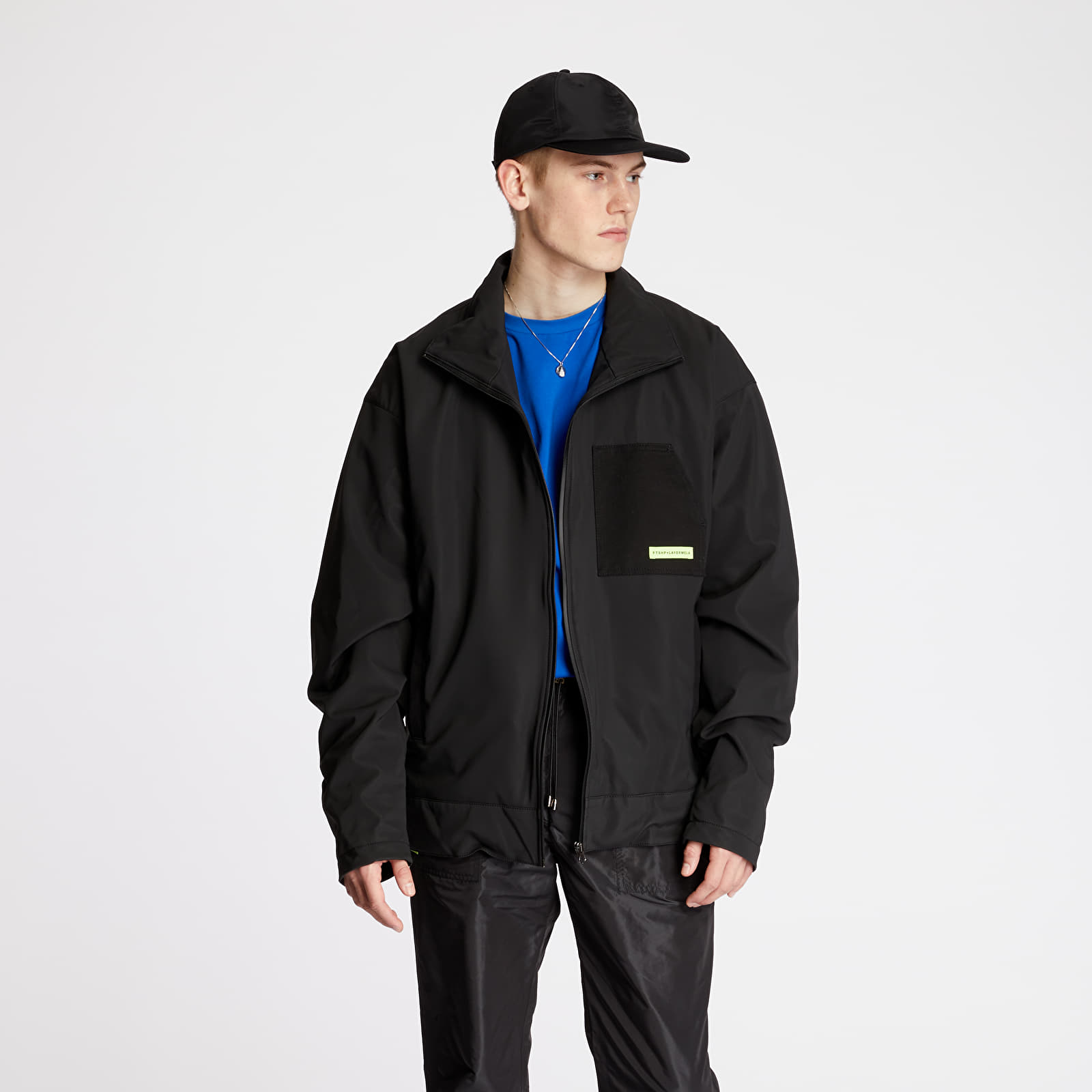 "Jackets and Coats FTSHP + LAFORMELA ""No Season"" Scuba Side Zip Jacket Black"