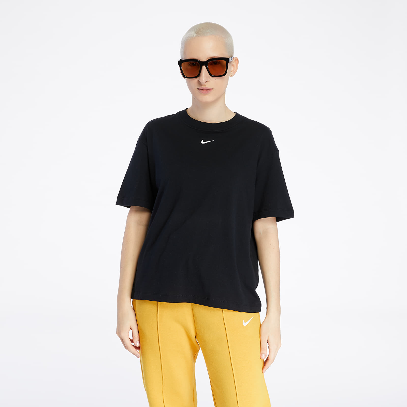 Koszulki Nike Sportswear Essential Top Black/ White