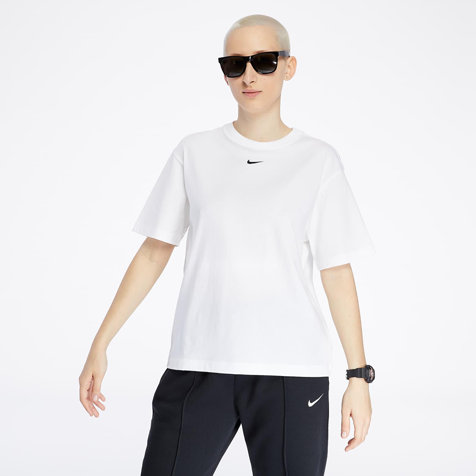 Damskie Ubrania Nike Sportswear Essential Top White/ Black