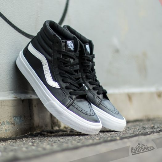 Vans Sk8 Hi Reissue Premium Leather Black | Footshop