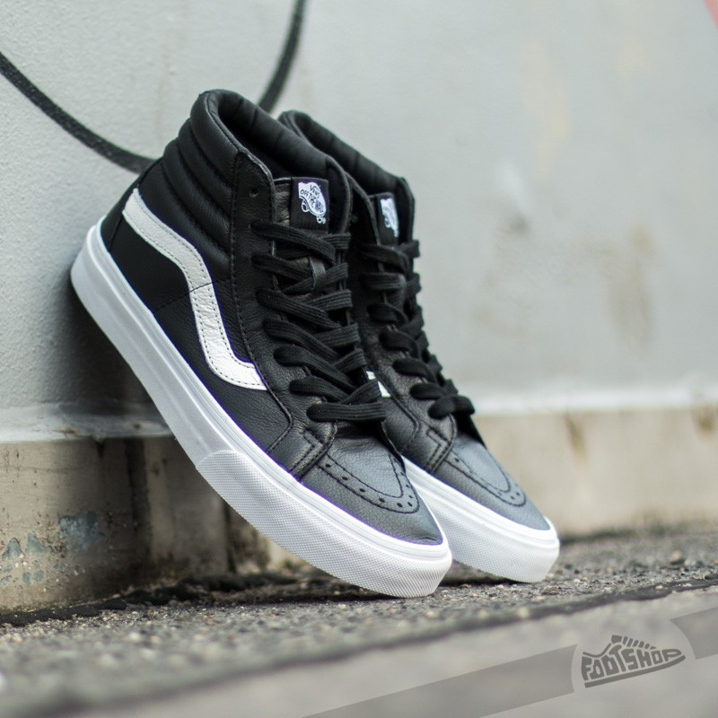 3508c47caf9 Vans Sk8-Hi Reissue Premium Leather Black