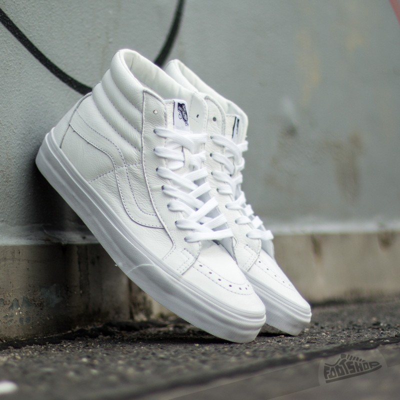Vans Sk8-Hi Reissue Premimum Leather True White  9a7468b59