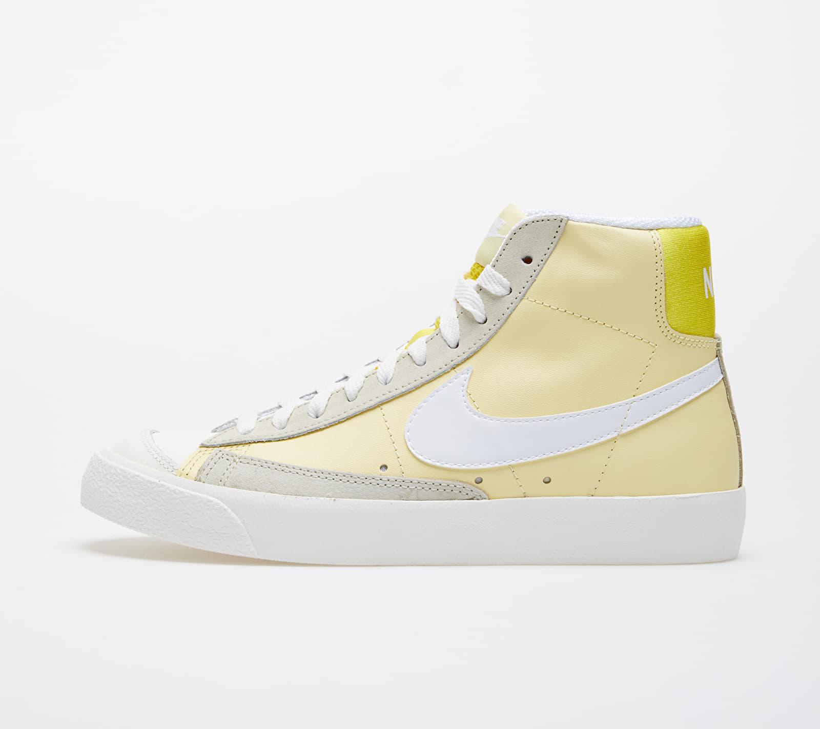 Nike Wmns Blazer Mid '77 Bicycle Yellow/ White-Opti Yellow-Fossil 1