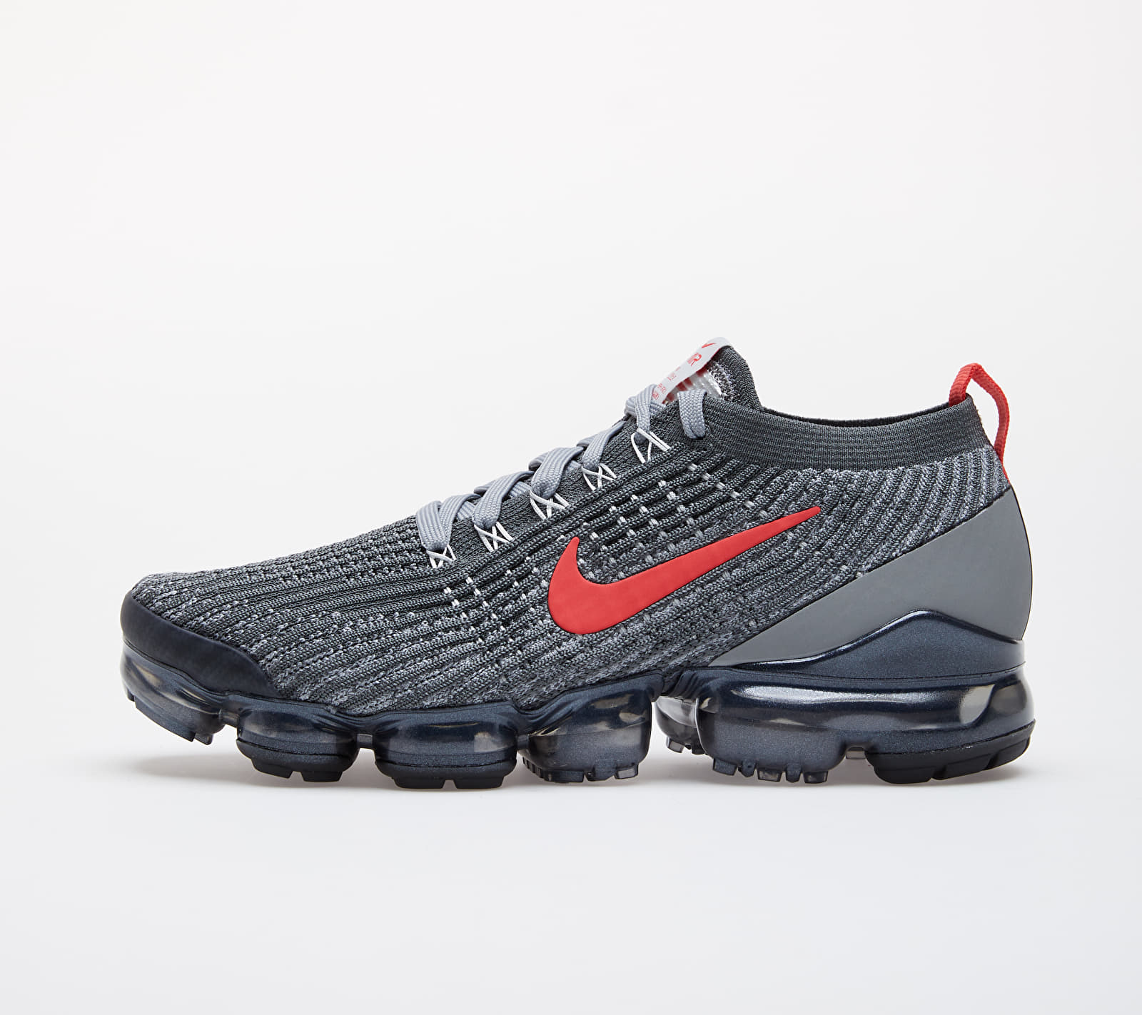 Nike Air Vapormax Flyknit 3 Iron Grey/ Track Red-Particle Grey EUR 42.5