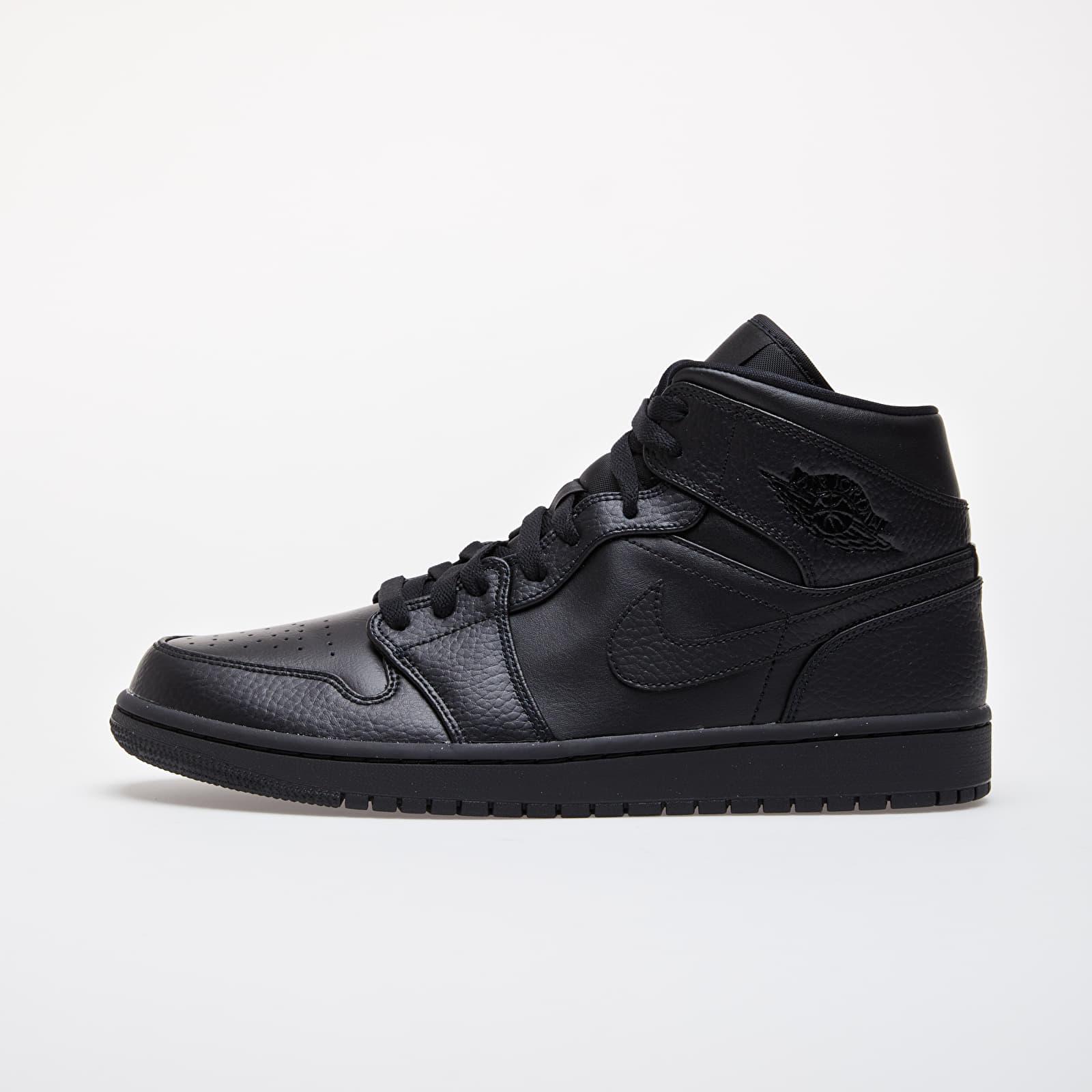 Pánské tenisky a boty Jordan Air 1 Mid Black/ Black-Black