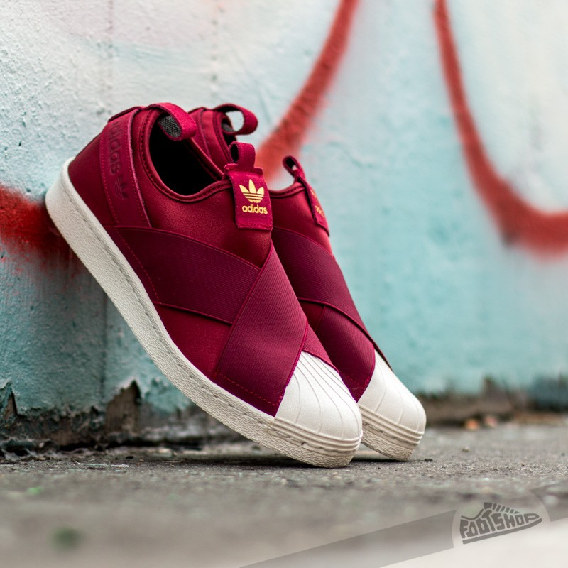 28275e570fd adidas Superstar Slip On W Burgundy  Burgundy  Legink