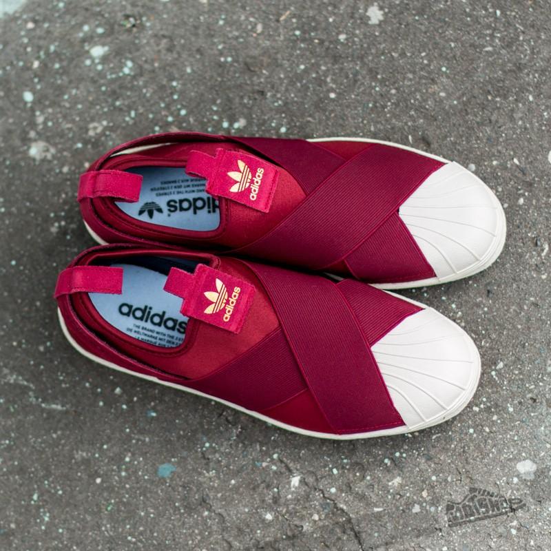 adidas superstar slip on rosse