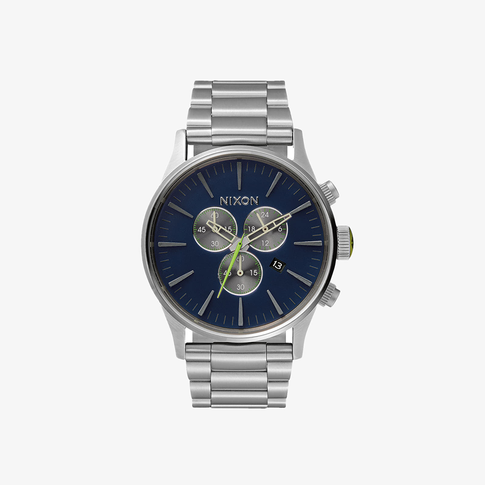 Relojes Nixon Sentry Chrono Watch Midnight Blue/ Volt Green