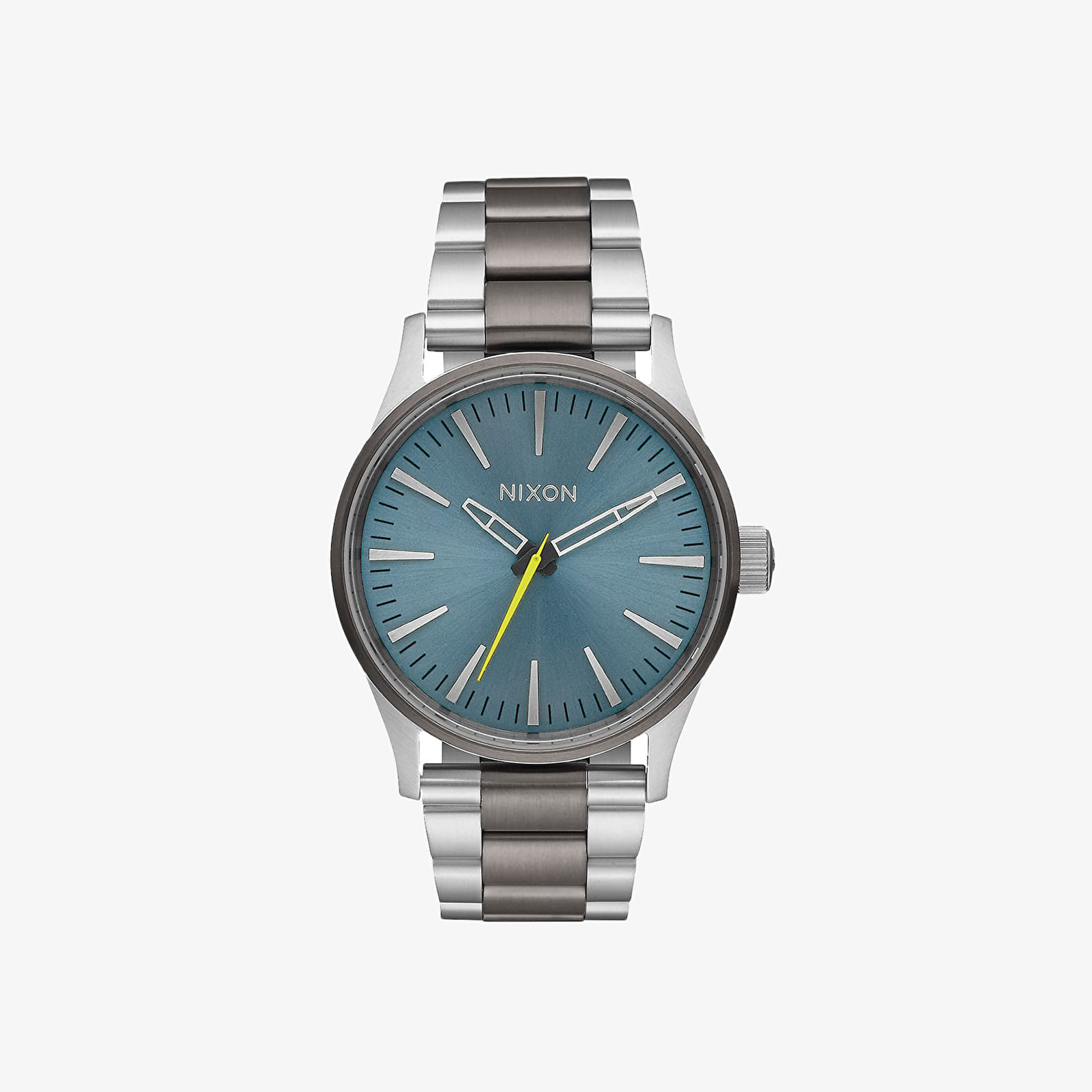 Watches Nixon Sentry 38 SS Watch Gunmetal/ Aqua Sunray