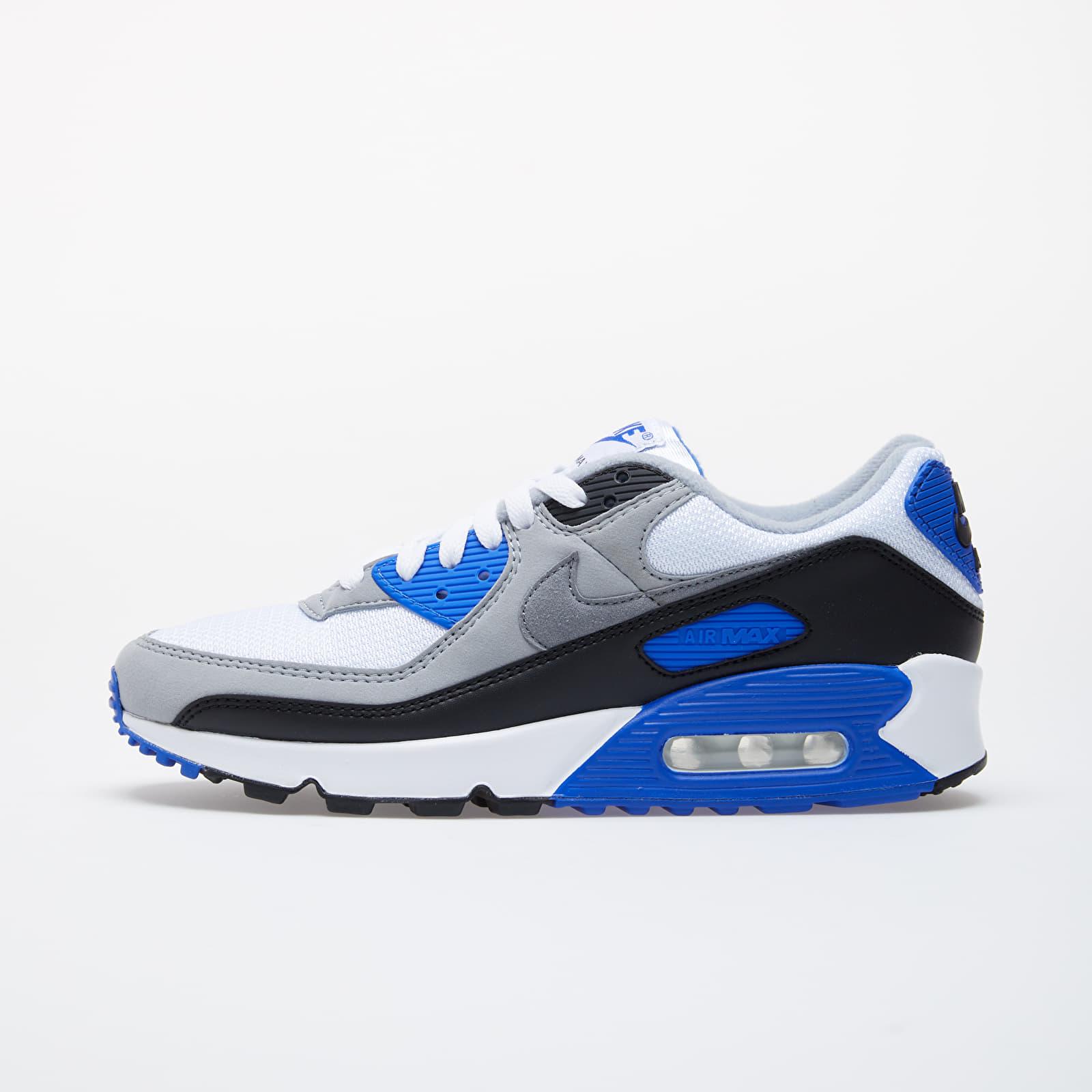 Férfi cipők Nike Air Max 90 White/ Particle Grey-Hyper Royal-Black