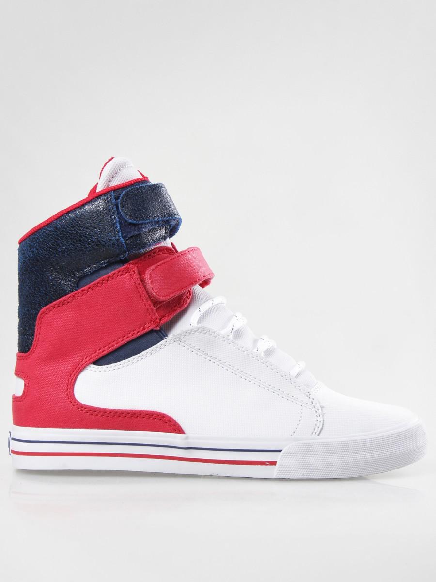 Supra Society White Red Navy-White  7f6ee5e242a