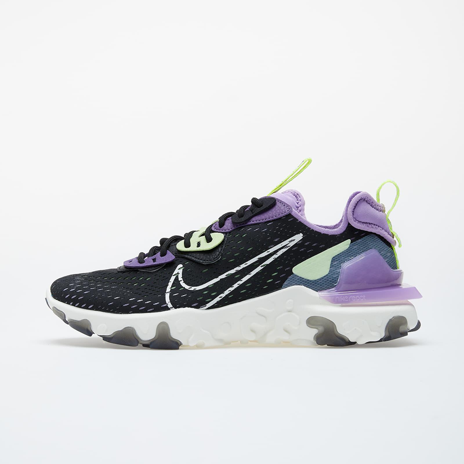Pánské tenisky a boty Nike React Vision Black/ Sail-Dk Smoke Grey-Gravity Purple