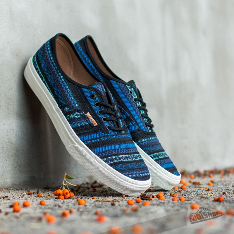 Vans Authentic California Italian Weave Blue  Black  30c6fe51a