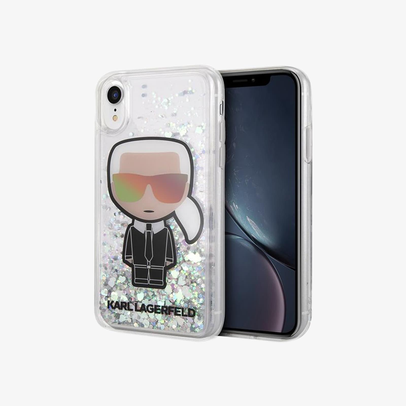 Karl Lagerfeld Iconic Liquid Glitter iPhone XS Max Case
