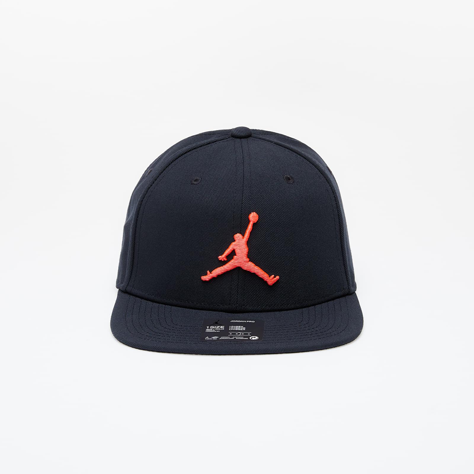 Caps Jordan Pro Jumpman Snapback Black/ Black/ Black/ Infrared 23