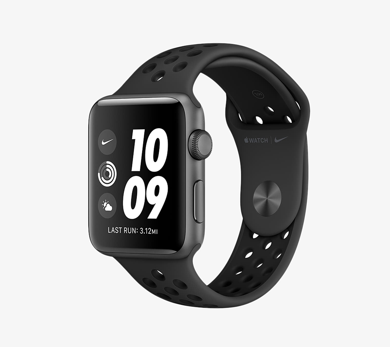 Apple Watch Nike+ 38mm Series 3 Space Grey Aluminium Case with Nike Sport Band Anthracite/ Black univerzální