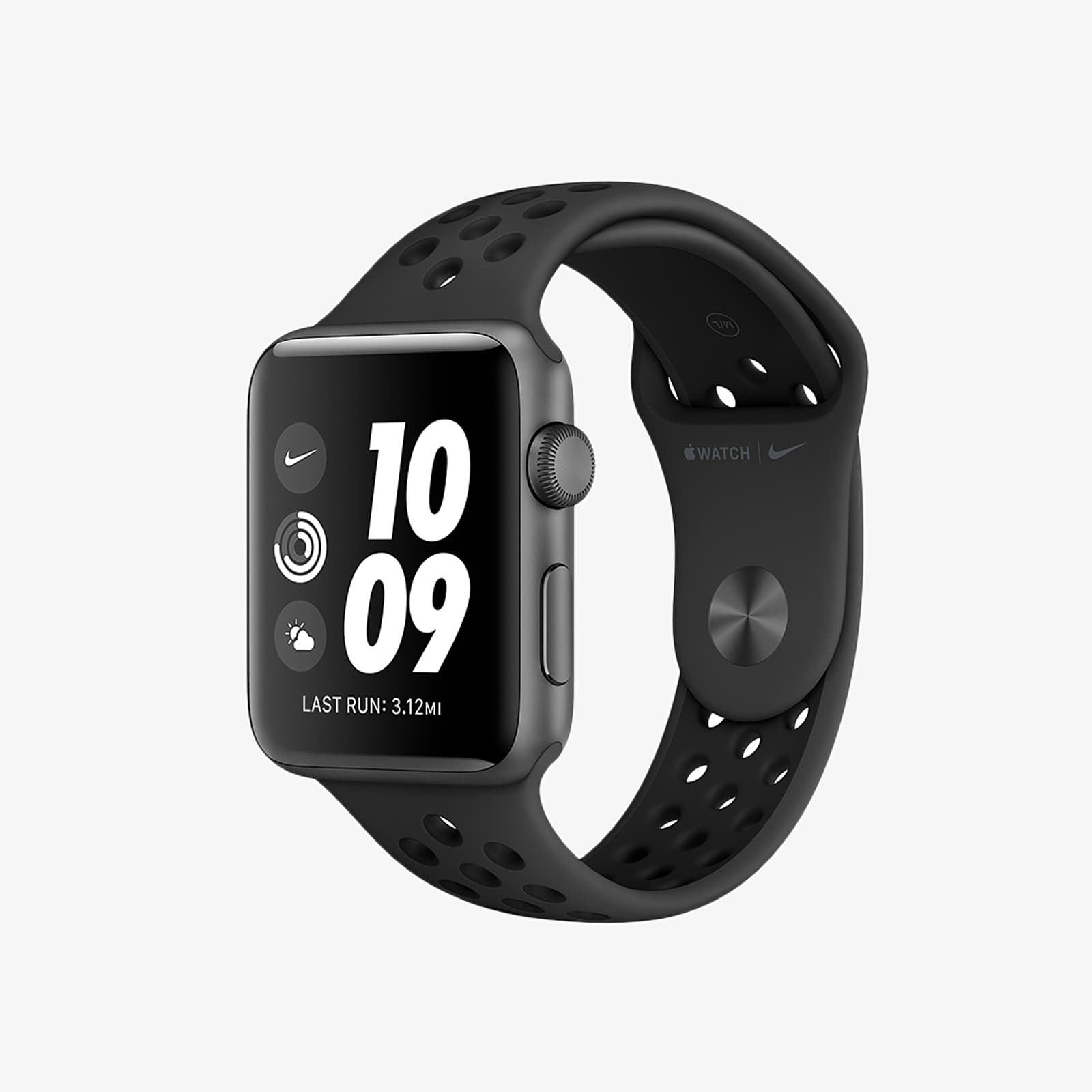 Autres Apple Watch Nike+ 38mm Series 3 Space Grey Aluminium Case with Nike Sport Band Anthracite/ Black