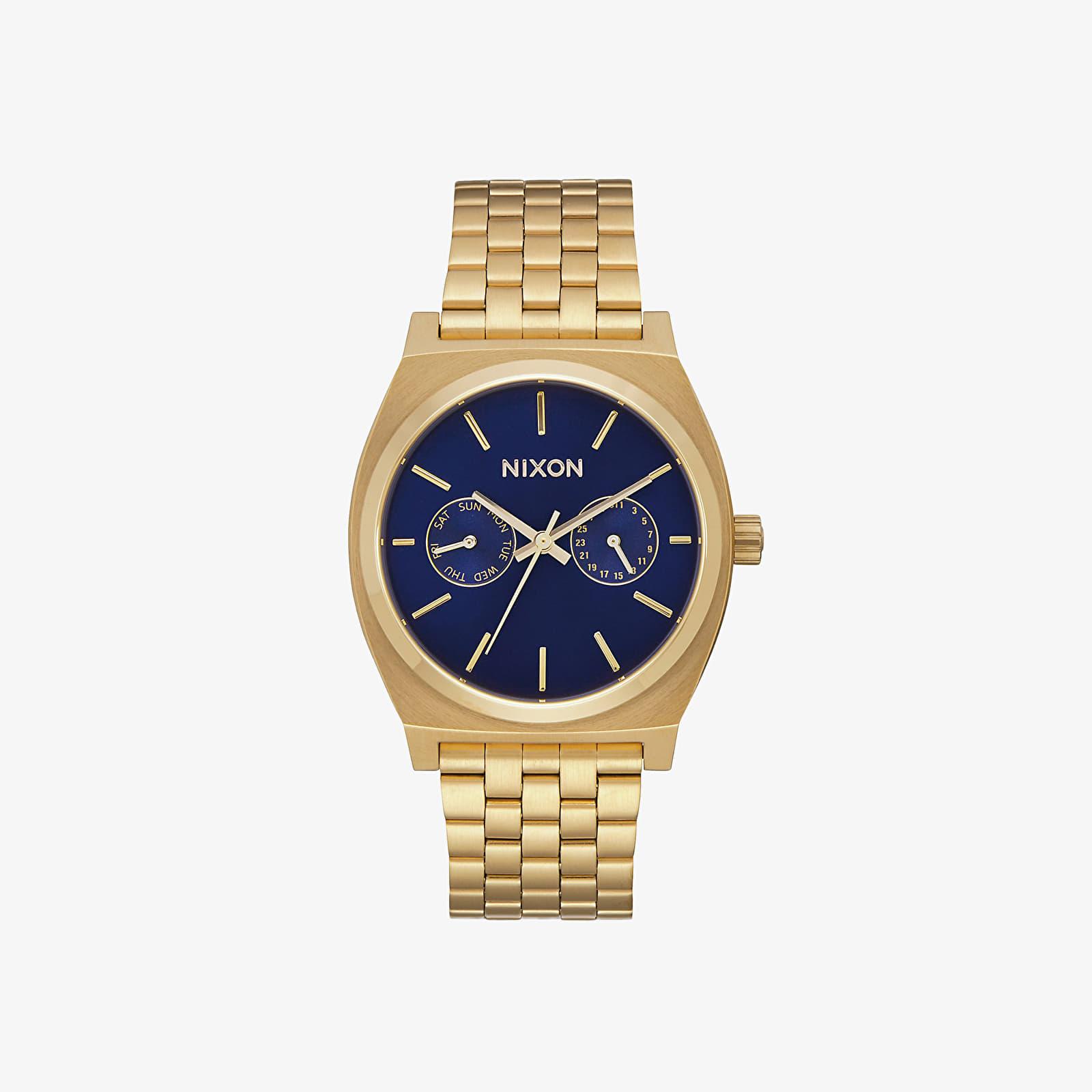 Hodinky Nixon Time Teller Deluxe All Gold/ Navy Sunray