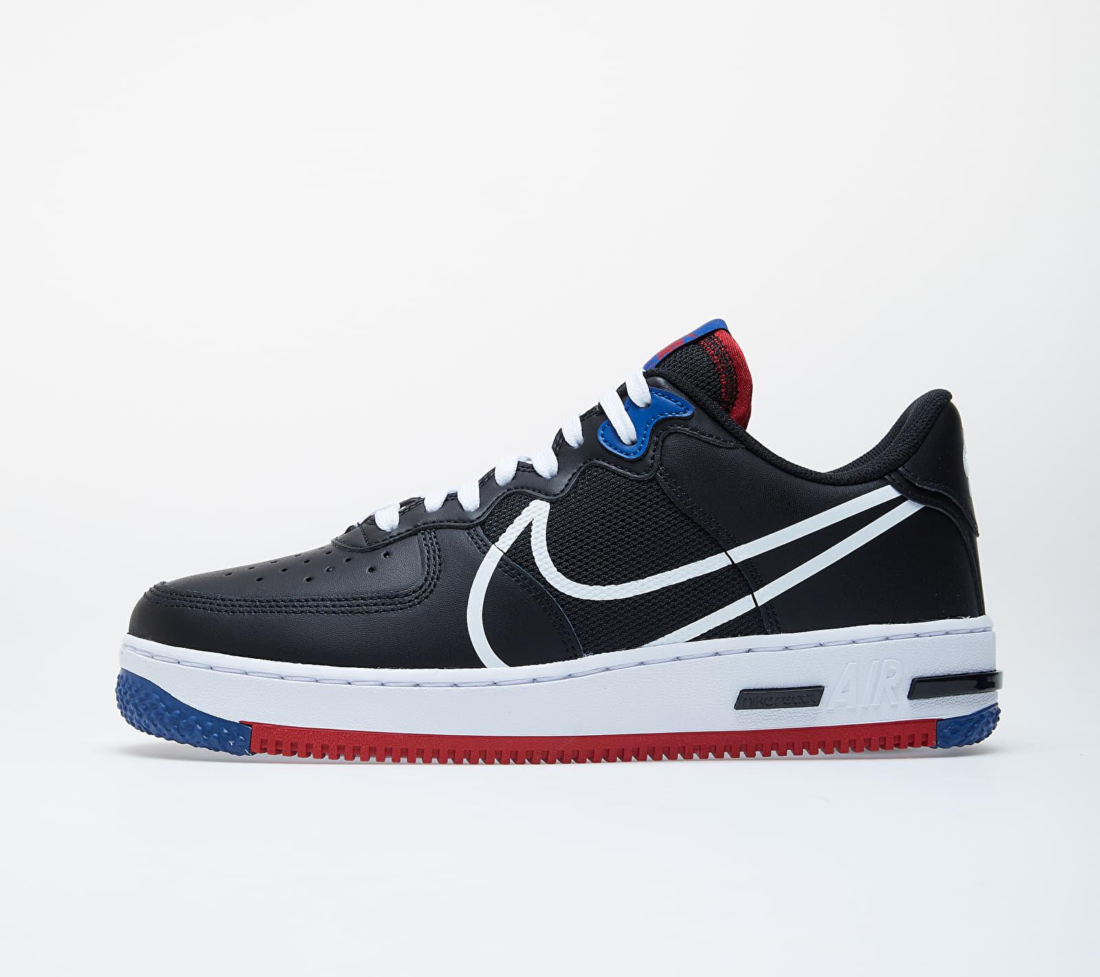 Nike Air Force 1 React Black/ White-Gym Red-Gym Blue EUR 42.5