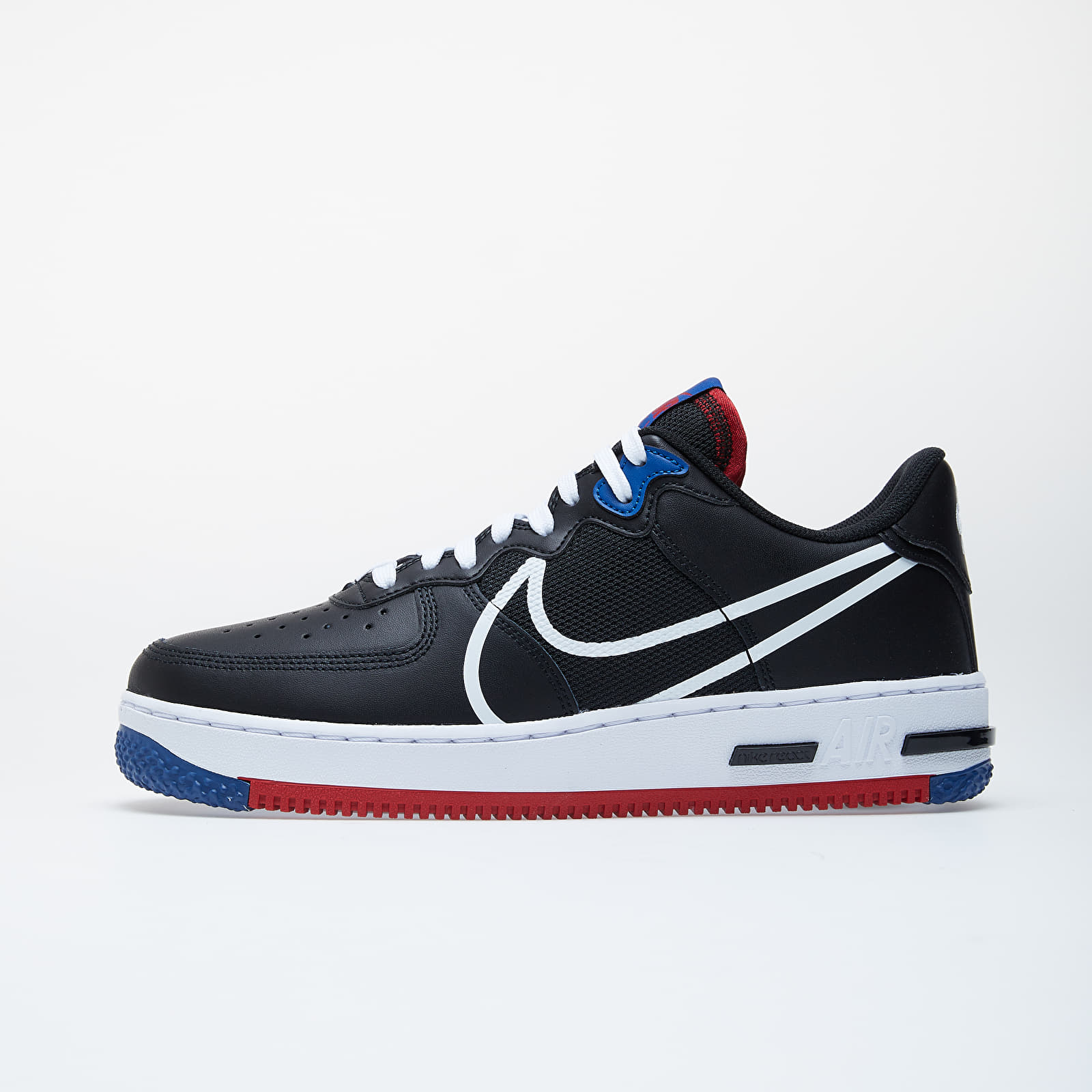 sostén Jane Austen Celsius  Men's shoes Nike Air Force 1 React Black/ White-Gym Red-Gym Blue