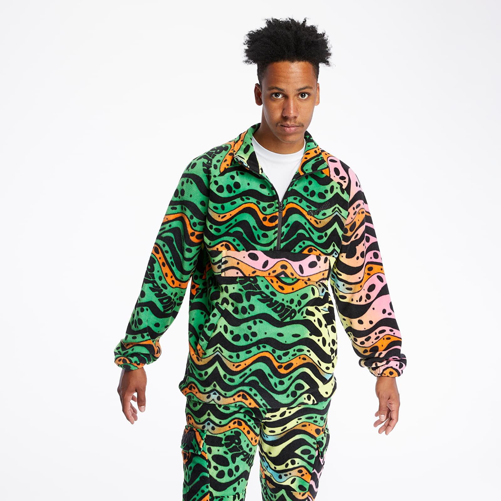 Mikiny a svetry RIPNDIP Ripple Brushed Fleece Half Zip Jacket Multicolor